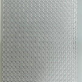 Sticker peel off adhésif argent lignes fleurs
