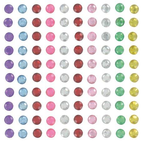Strass ronds adhésifs multicolores