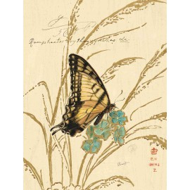 Carte d'art papillon jaune