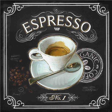 Carte d'art café expresso