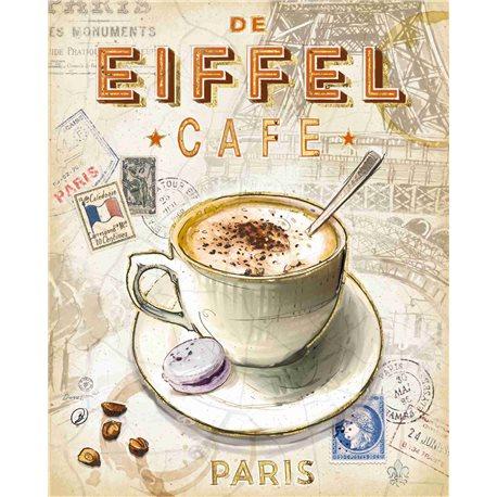 Carte d'art Paris café Tour Eiffel