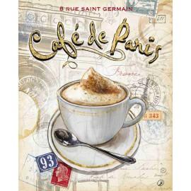 Carte d'art café de Paris