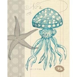 Carte d'art étoile de mer 2