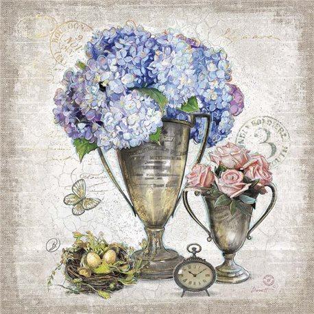 Carte d'art composition d'hortensias