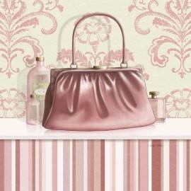 Carte d'art sac de femme rose