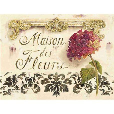 Carte d'art maison des fleurs Kathryn White