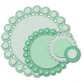 Dies découpe gaufrage cercles perlées Nestabilities Spellbinders