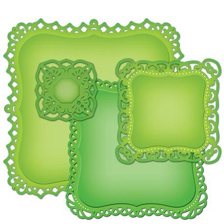 Dies découpe gaufrage étiquettes décoratives 1 Nestabilities Spellbinders
