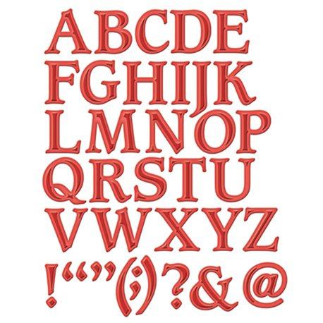 Dies découpe gaufrage alphabet majuscule Shapeabilities Spellbinders