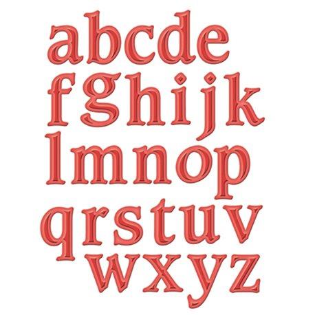 Dies découpe gaufrage alphabet minuscule Shapeabilities Spellbinders