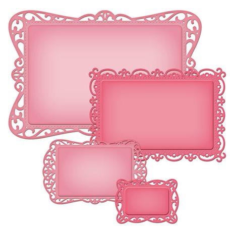 Dies découpe gaufrage rectangles intemporels Nestabilities Spellbinders