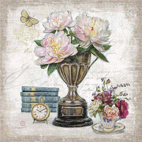 Carte d'art composition de fleurs