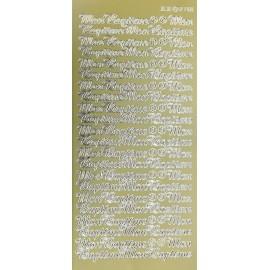 Sticker peel off adhésif or écriture mon baptême