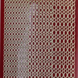 Sticker peel off adhésif rouge et or lignes de ronds