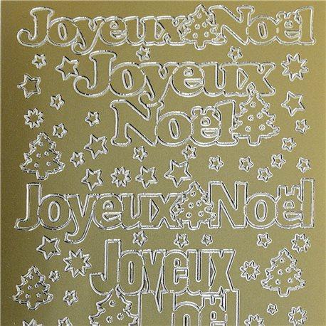 Sticker peel off adhésif or écriture joyeux noel