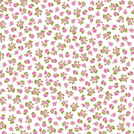 Feuilles artepatch blanc semis de roses rose