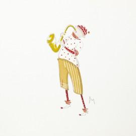 Aquarelle Brigitte Misériaux choupinets saxo