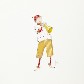 Aquarelle Brigitte Misériaux choupinets trompette
