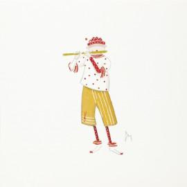 Aquarelle Brigitte Misériaux choupinets flute traversière