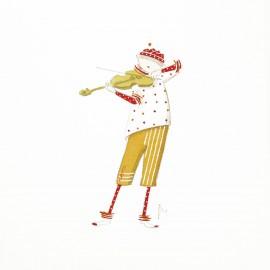 Aquarelle Brigitte Misériaux choupinets violon