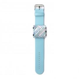 Montre Stamps bracelet de montre bleu pastel