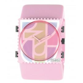 Montre Stamps bracelet de montre ice cream rose