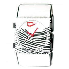 Montre Stamps bracelet élastique belta paris blanc