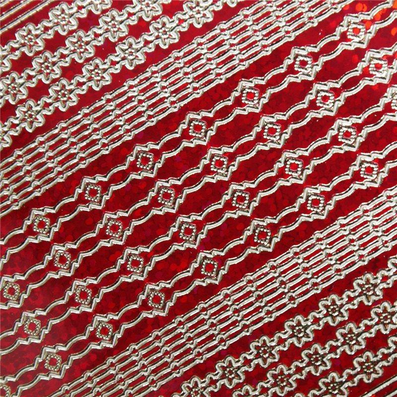 Sticker peel off autocollant scrapbooking rouge diamant for Ligne deco