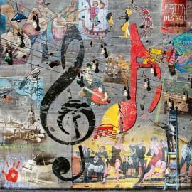 Carte postale M-L Vareilles le peintre de la clé de sol
