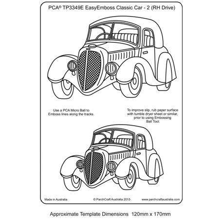 Template gabarit parchemin voitures anciennes