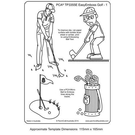 Template gabarit parchemin golf