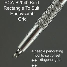 PCA outil perforation 4 pointes épaisses grille alvéolaire