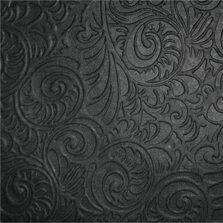 Papier fantaisie arabesques noir