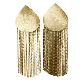 Boucles d'oreilles dorées Enaida oreilles percées