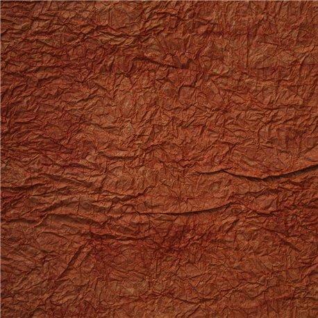 Papier fantaisie froissé balkan terra cotta