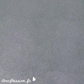 Papier simili cuir lézard métallique gris