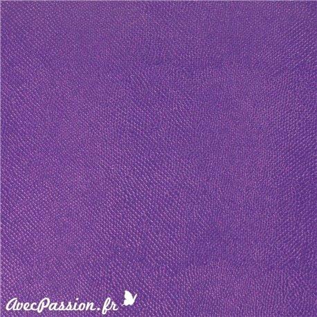 Papier simili cuir lézard métallique violet
