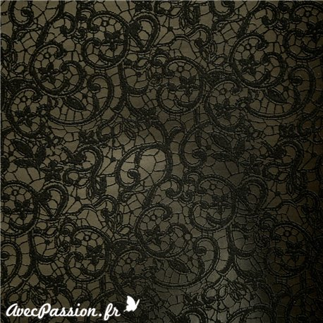 Papier simili cuir calabria noir papier-fantaise-cartonnage-papier-meuble-carton