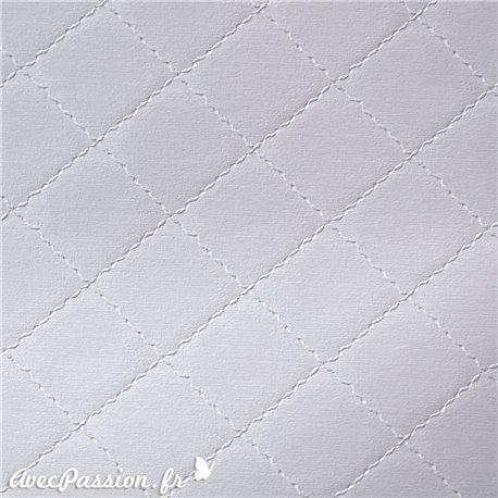 Papier simili cuir diamond gris perle