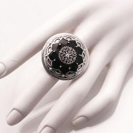 bague-fantaisie-reglable-noir-bijou-createur-statu-quo-ref-01828