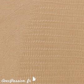 Papier simili cuir téjus beige
