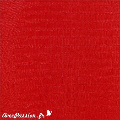 Papier simili cuir téjus rouge