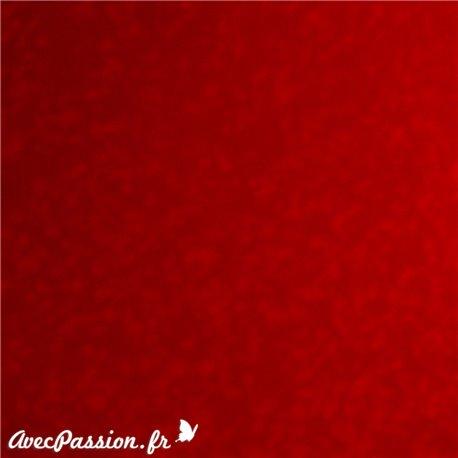 Papier fantaisie velours rouge