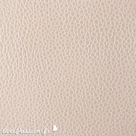 Papier Skivertex simili cuir mallory blanc