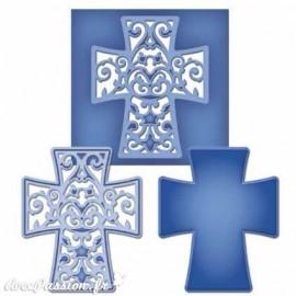 Dies découpe gaufrage croix Spellbinders