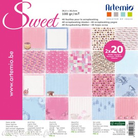 Papier scrapbooking assortiment sweet 20fe