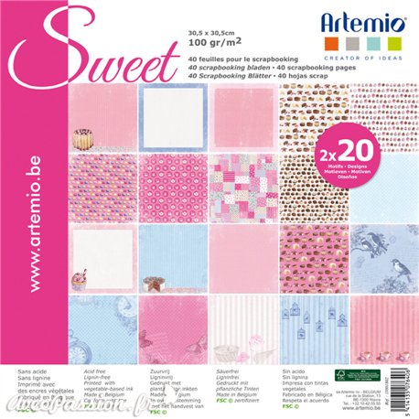 Papier scrapbooking assortiment sweet 20fe