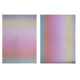 Pergamano papier parchemin A4 150 gr duo de 2 fe arc en ciel pastel 61484