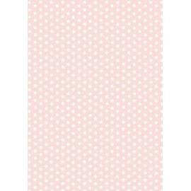 Pergamano feuille parchemin rose étoile blanche 61574 à l'unité