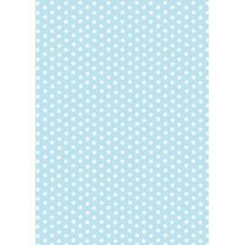 Pergamano feuille parchemin bleu étoile blanche 61575 à l'unité